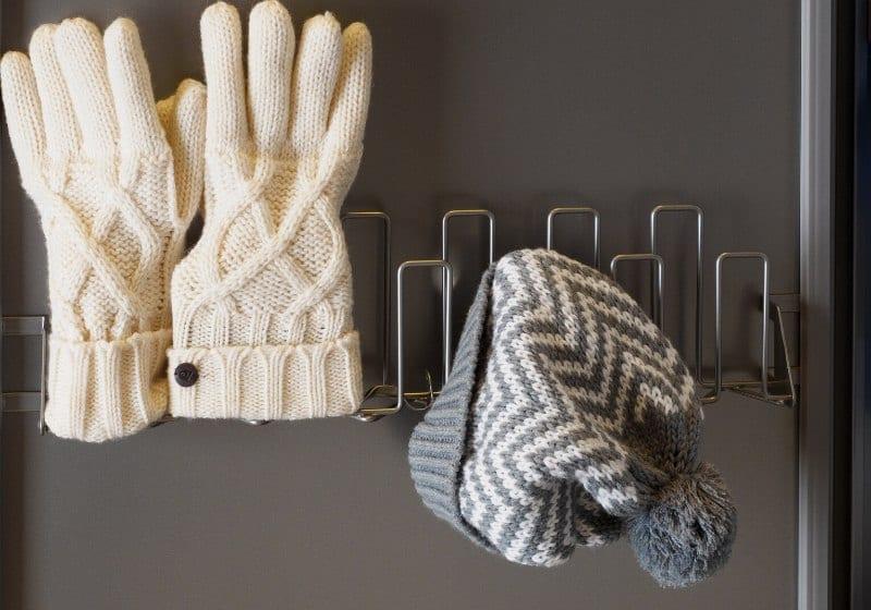 hat gloves drying gray white winter | winter survival kit